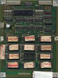 View a high resolution image of the (early series) Defender ROM board